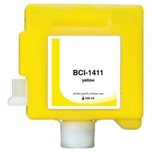 Canon BCI1411Y Compatible Yellow Wide Format Dye Dye Ink Cartridge
