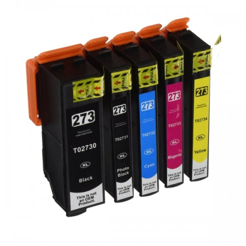 Epson 273 Compatible High Yield PB,B,C,M,Y Ink Cartridge Bundle