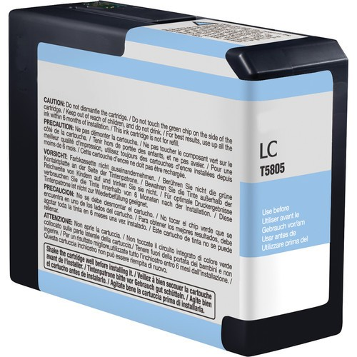 Epson C13T580500, T5805 Compatible Light Cyan Ink Cartridge