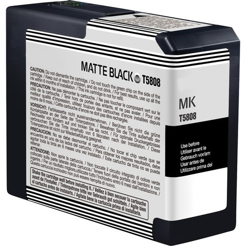 Epson C13T580800, T5808 Compatible Matte Black Ink Cartridge