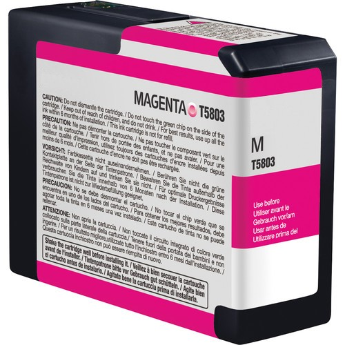 Epson C13T580A00, T580A Compatible Magenta Ink Cartridge