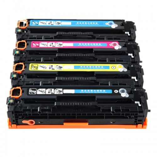 HP #125 Compatible B,C,M,Y Laser Cartridge Bundle