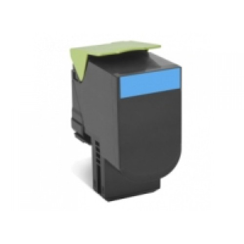 Lexmark 80C8SC0 Compatible Cyan High Yield Laser Cartridge