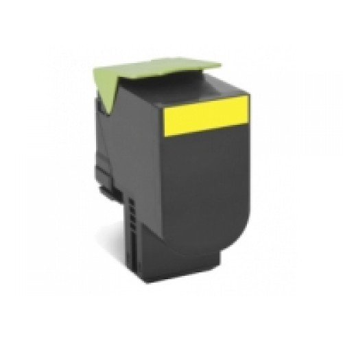Lexmark 80C8SY0 Compatible Yellow High Yield Laser Cartridge